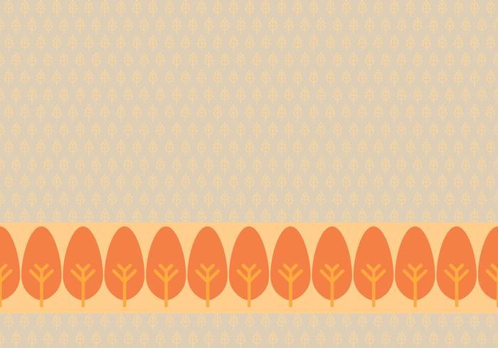 Orange Leafy Background Daun Vector