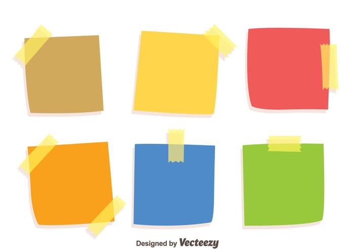 Colorful Stiky Notes Vectors