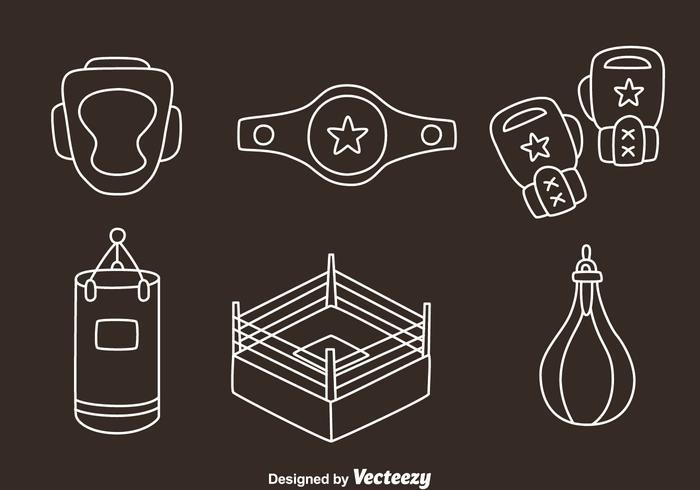 Boxing Element Line Vectors