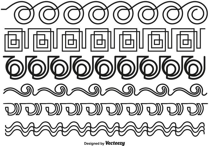 Abstract Line Style Borders - Vector