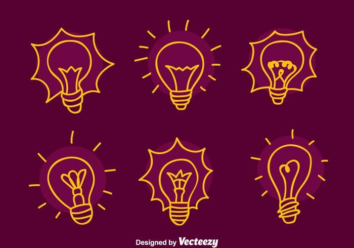 Sketch Glühbirne Vektoren