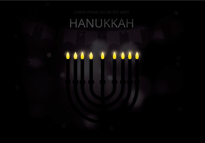 Happy Hanukkah Illustration  vector