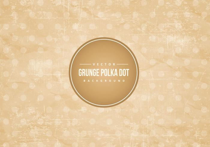 Grunge Polka Dot Background