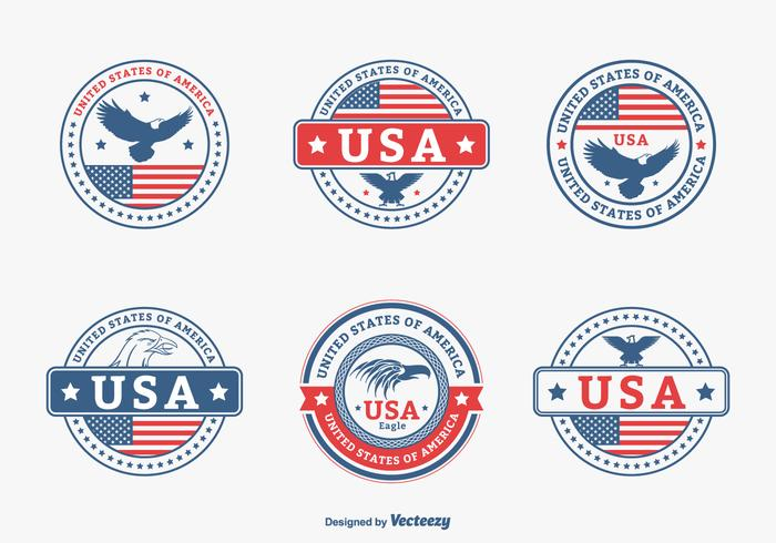 Colored USA Aigle Seal Vector Set