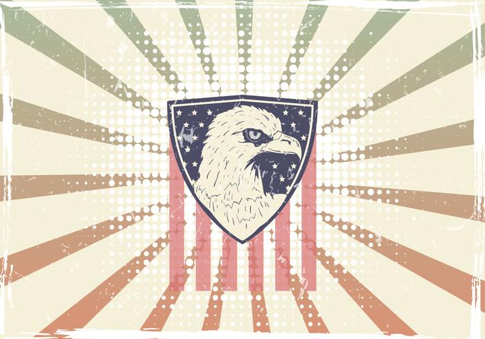 American Eagle Seal With American Flag
