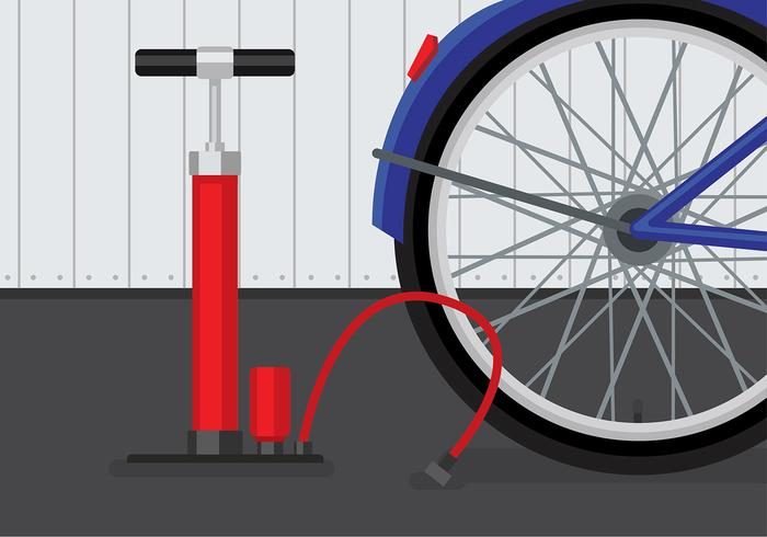 Air Pump Bicycle Vector