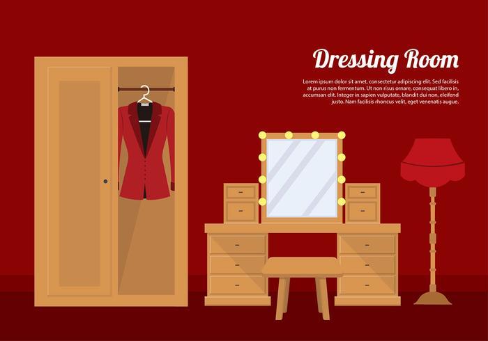 Dressing Room Elegant Vector