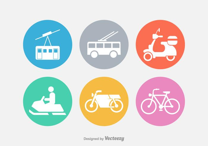 Transport Vector Silhouette Icons