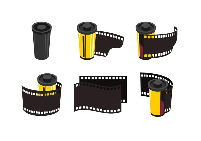 Film & recipiente colector Free Vector