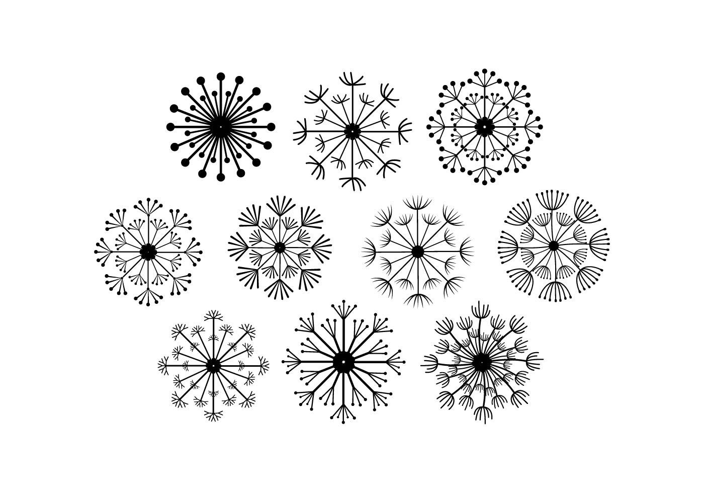 kostenlose blowball vector kostenlose vektor kunst. Black Bedroom Furniture Sets. Home Design Ideas