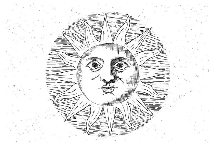 Free Vector Sun Illustration