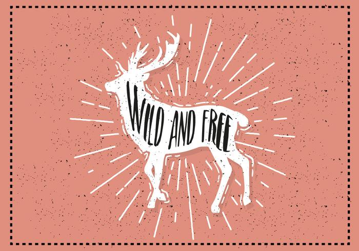 Free Hand Drawn Deer Background