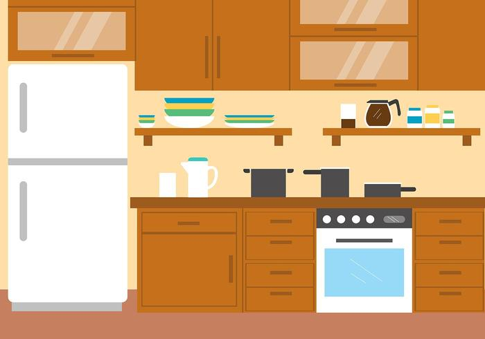 Gratis Vector Kitchen Illustration