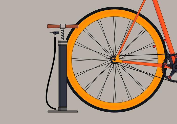 Luchtpomp en Bicycle