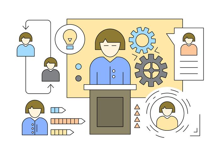 Illustration About Employee Organization in Vector