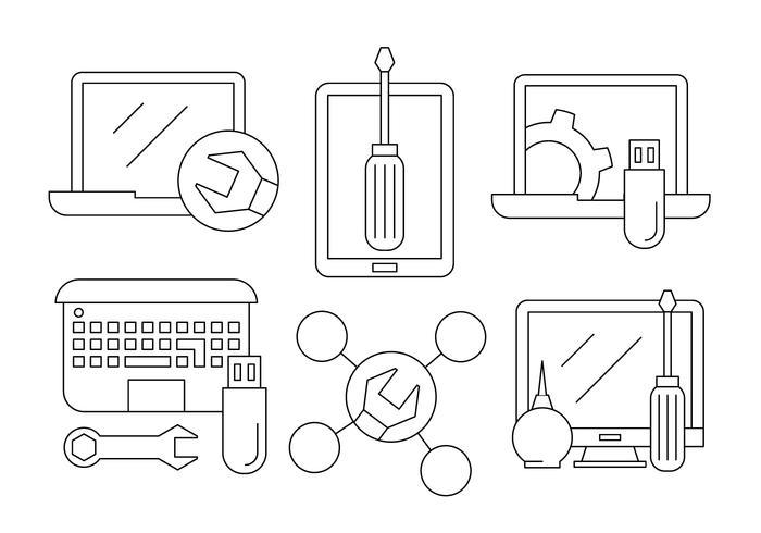 Kostenlose Computer-Reparatur-Icons