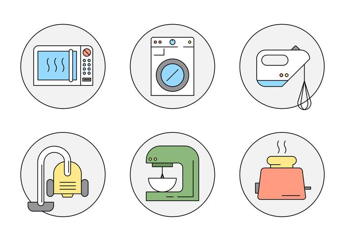 Free Linear Style Household Objects vector