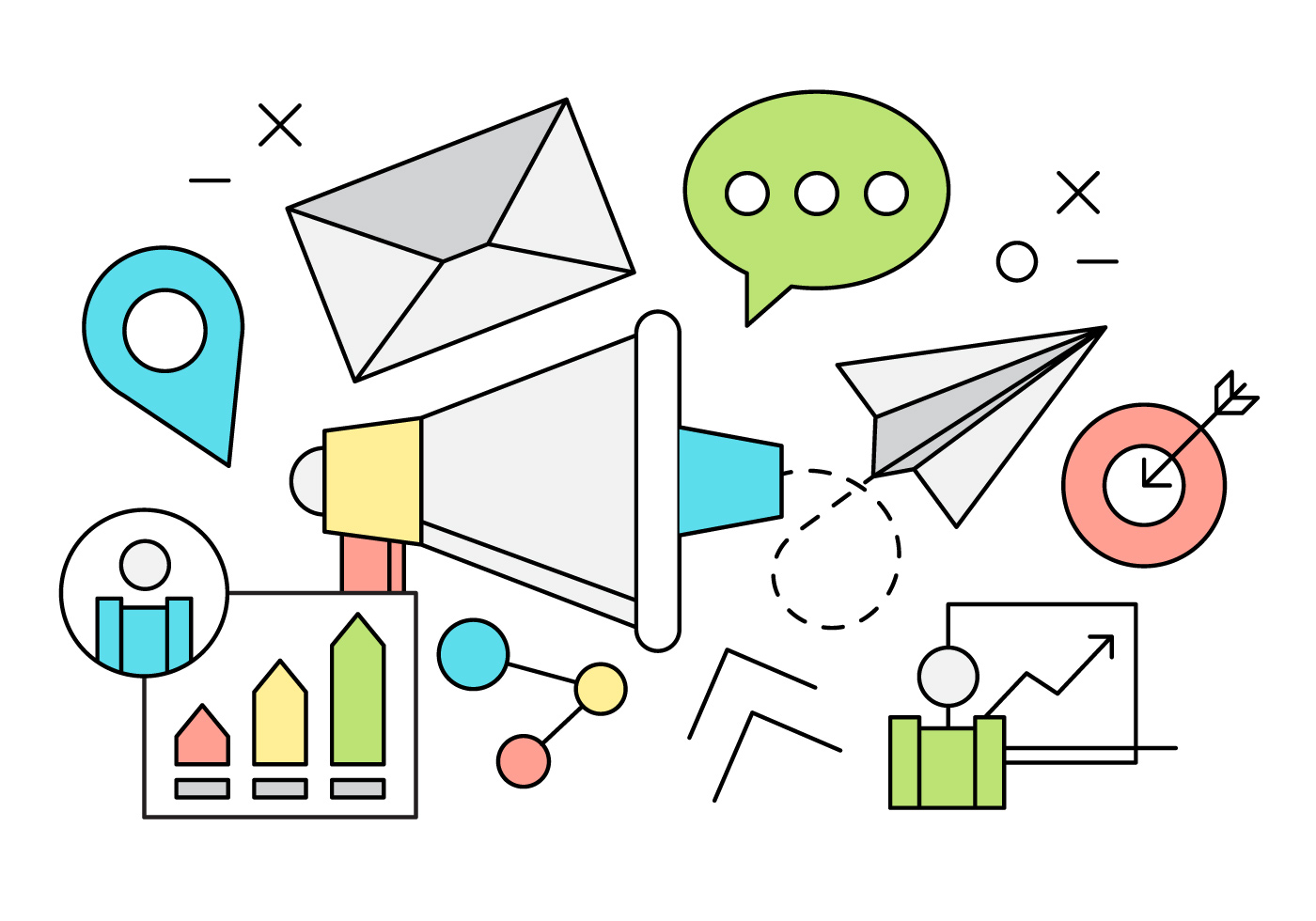 linear marketing vector icons