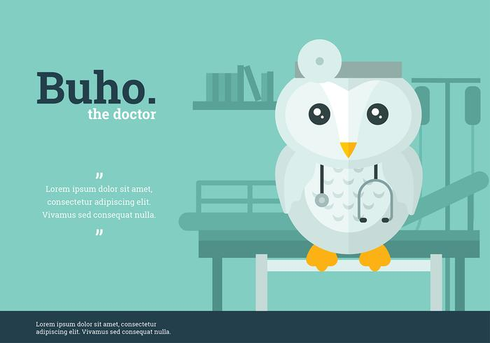 Buho Doctor Character Vector