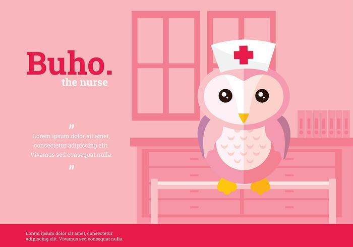 Buho Nurse Karaktär Vektor