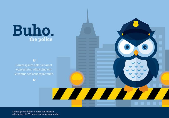 Buho Police Character Vector
