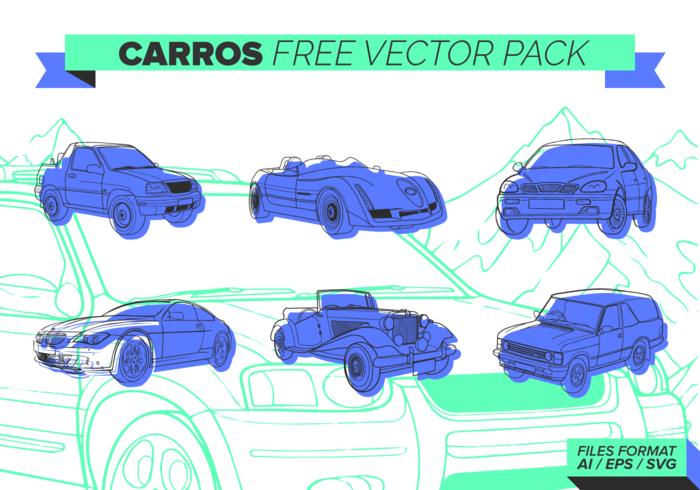 Indigo Carros Paquete de vectores libres
