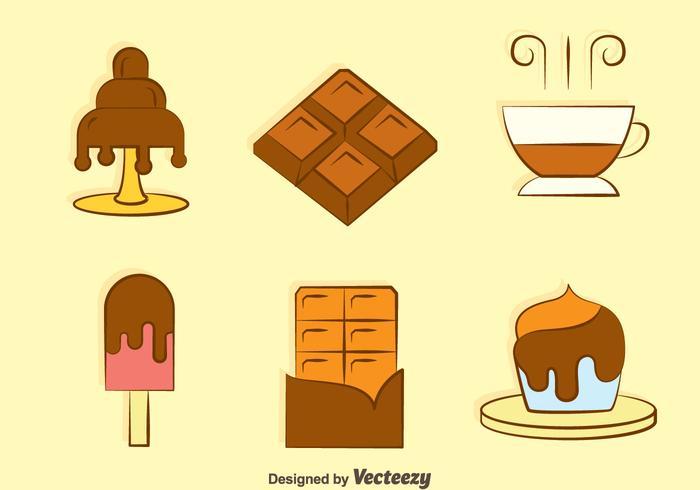 Sweet Chocolate Desert Vectors