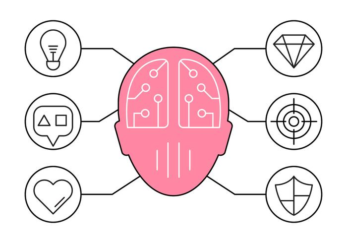 Illustration of Brainstorming and Ideas Icons