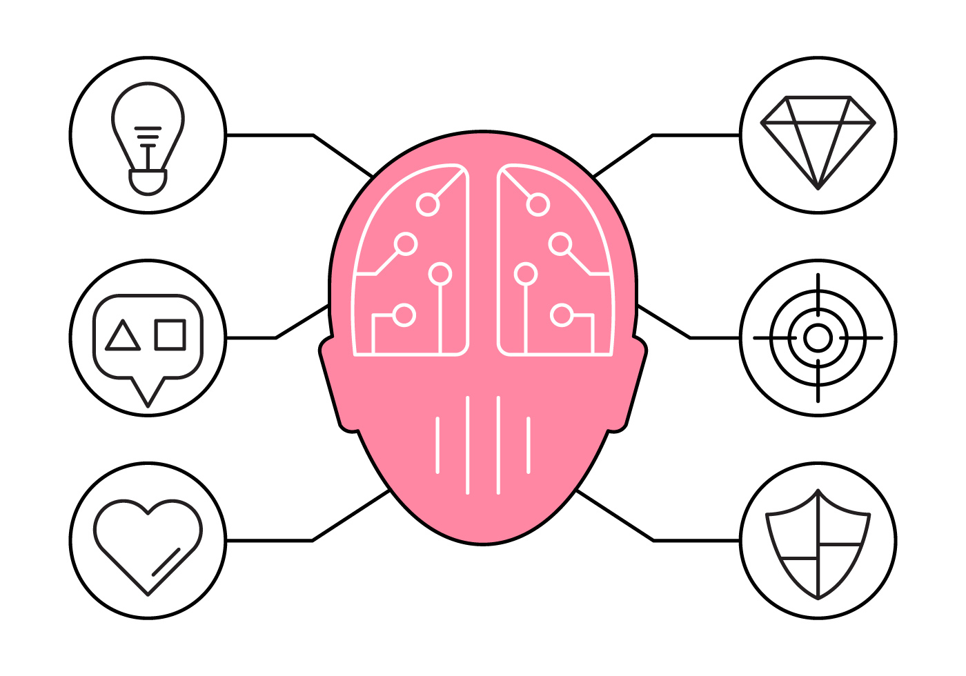 Illustration of Brainstorming and Ideas Icons - Download ...