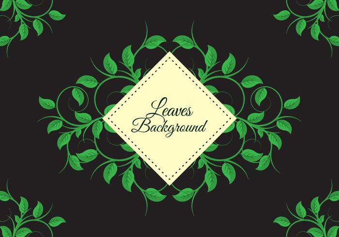 Free Leaves Background Vector