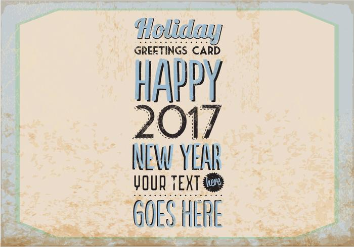 Vintage Holiday Card Vector