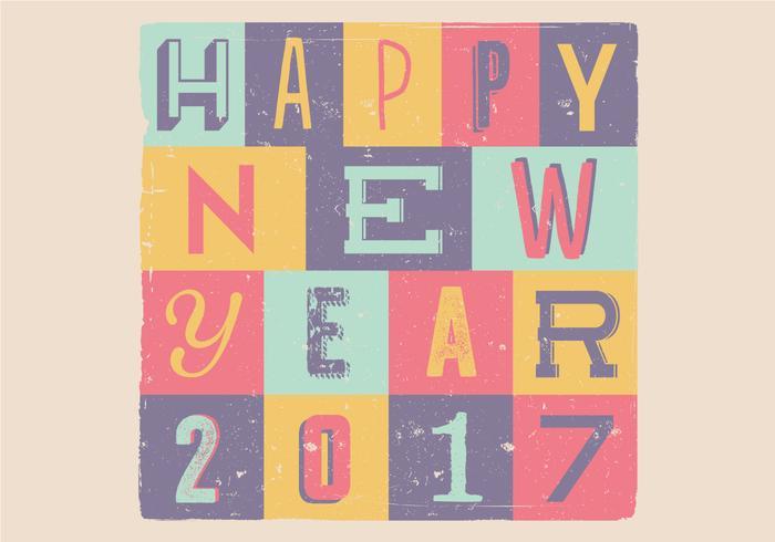 Feliz Año Nuevo 2017 del vector