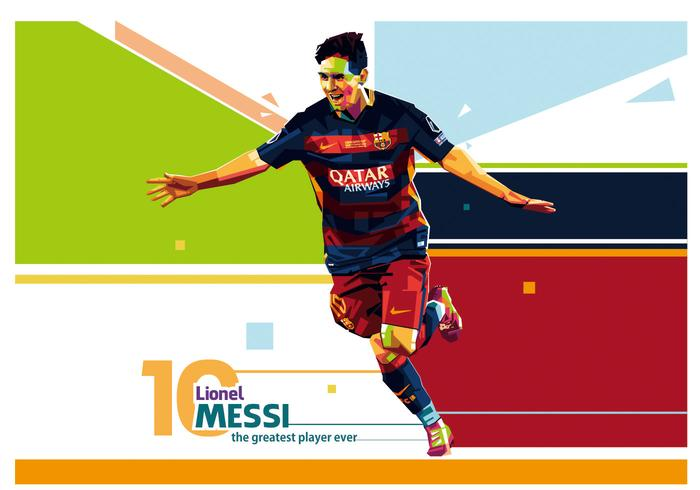 Lionel Messi Vector WPAP Portrait