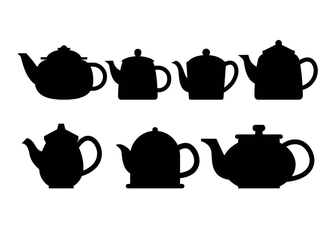 Teapot Silhouette Vector Set - Download Free Vector Art ...