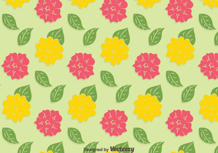 Yellow And Pink Petunia Pattern Background