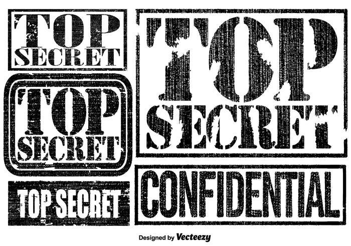 Vector Top Secret Sellos Conjunto