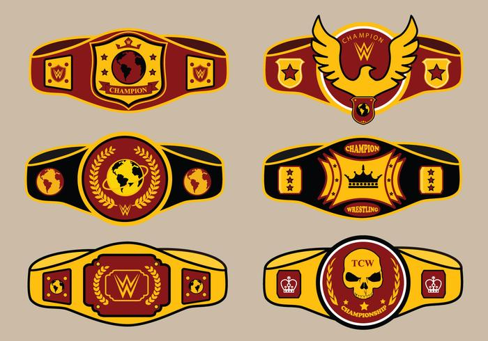 World Championship Belt Vector Pack