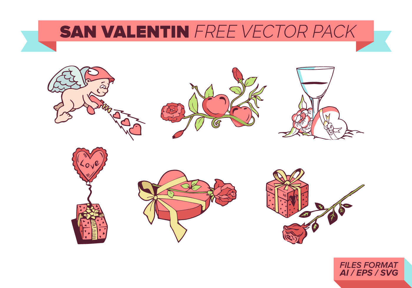 San Valentin Free Vector Pack - Download Free Vectors ...