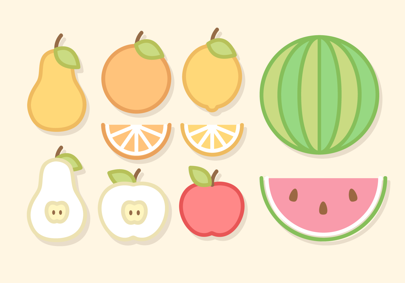 Line Art Fruits : Line art fruit vector download free stock
