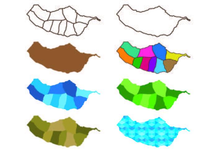 Madeira Map Vectors