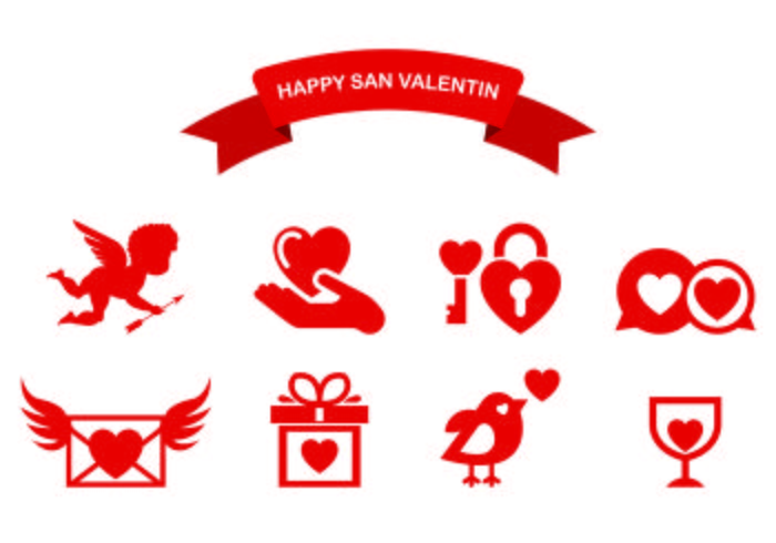Icons Of Happy San Valentin Download Free Vector Art Stock