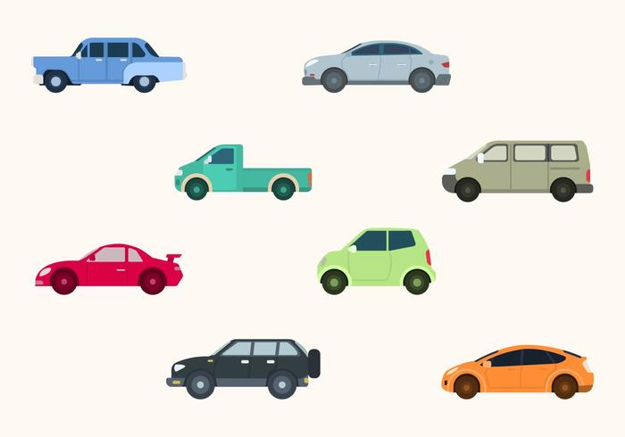 Flat Car Vector Collection
