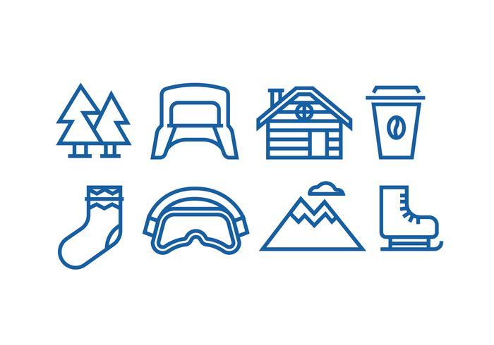 Winter Linear Icon Vectors
