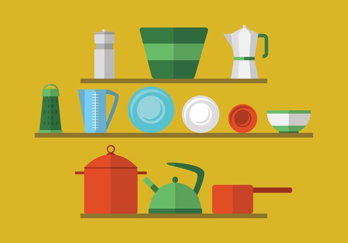 Utensilios de cocina retro vector