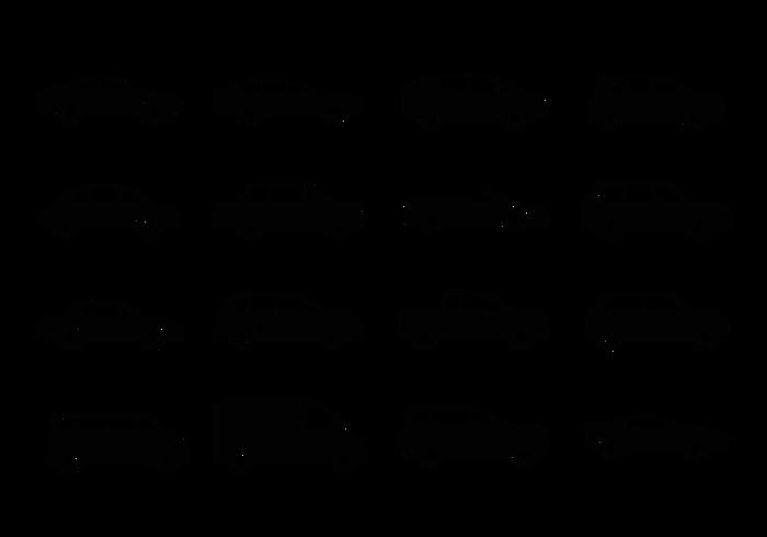 Carros icons vector
