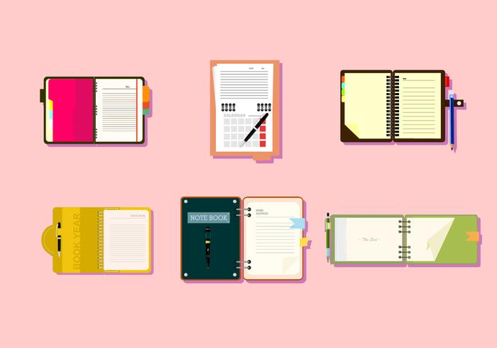 Notebooks Free Vector