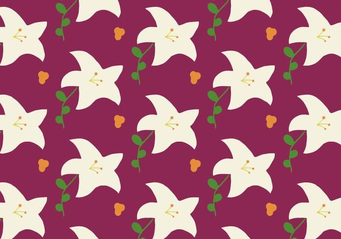 Easter Lily Pattern Background