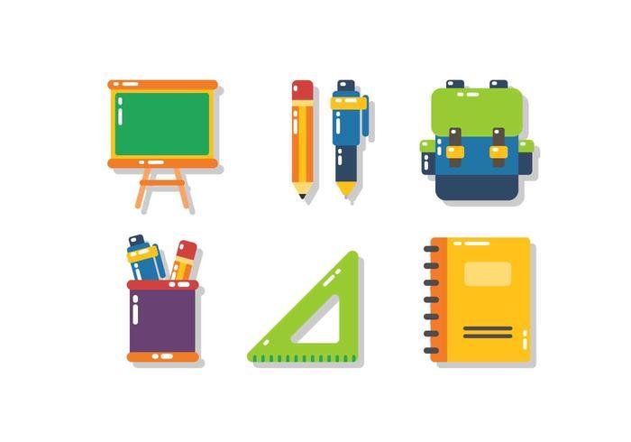 École unique gratuit icône Vecteurs