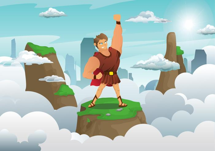 Hercules Character Illustration Vector