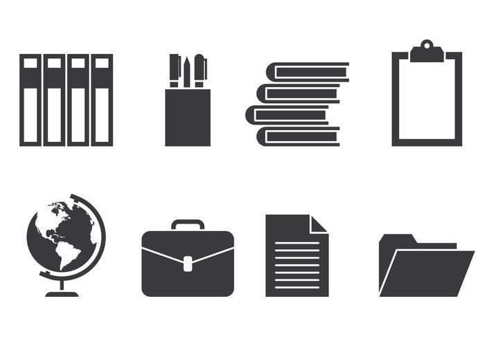 Iconos educativos vector